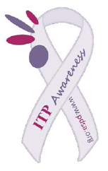 ITP Awareness Ribbon Car Magnet