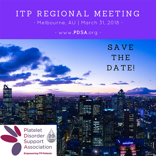 Poster for 2018 Melbourne regional meeting