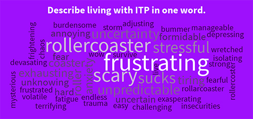living with itp in one word